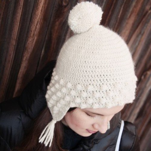 Linda Permann Snow Flurry Hat PDF -  ()