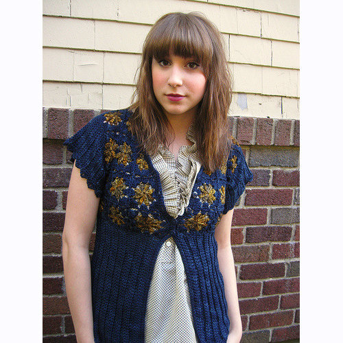 Linda Permann Starry Night Cardigan PDF -  ()