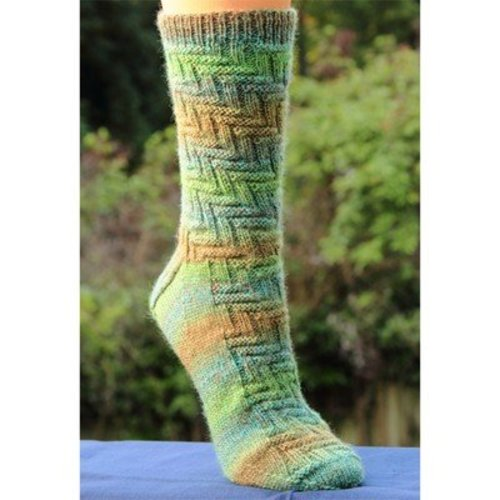 Lisa Ellis Designs A-31 Corn Maize Socks PDF -  ()