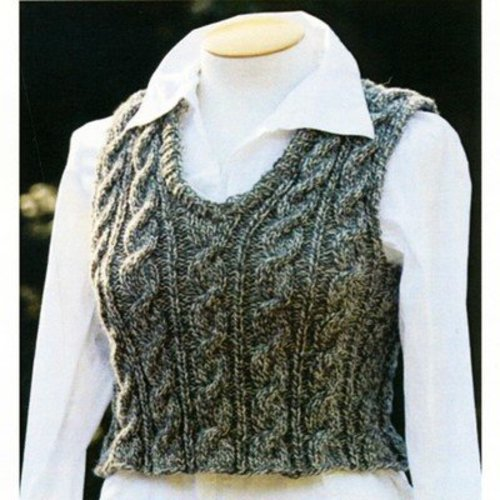 Lisa Ellis Designs AS-12 Unisex Cable Vest PDF -  ()
