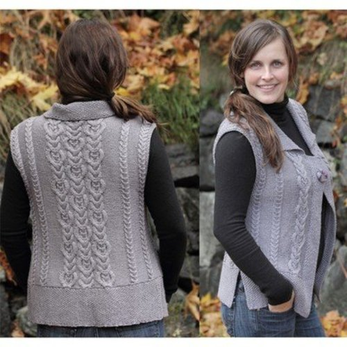 Lisa Ellis Designs AS-24 Royal Cables Vest PDF -  ()