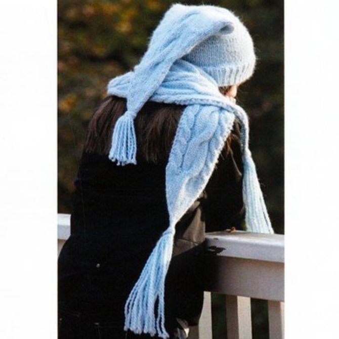 Lisa Ellis Designs H 25 Winter Cables Hat Scarf Pdf At Webs Yarn Com