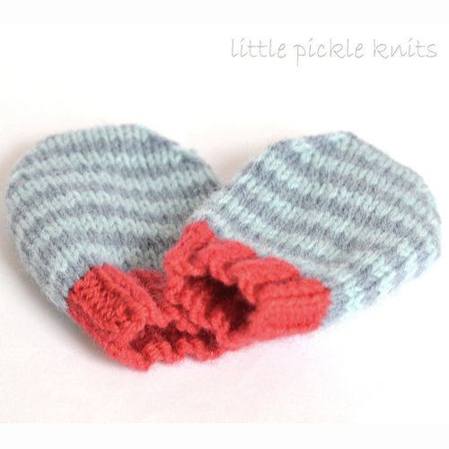 Little Pickle Knits 4-Ply Stripe Baby Mittens PDF -  ()