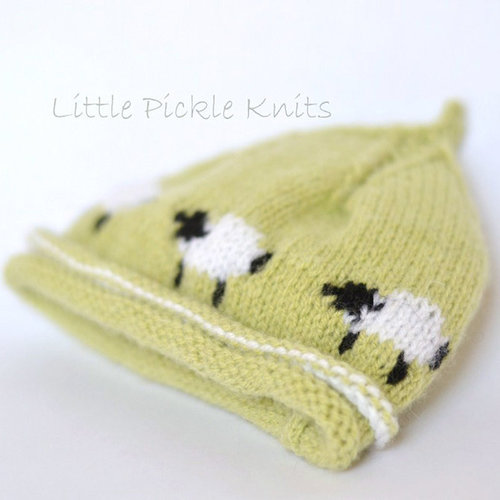 Little Pickle Knits Little Baa Baa Beanie PDF -  ()