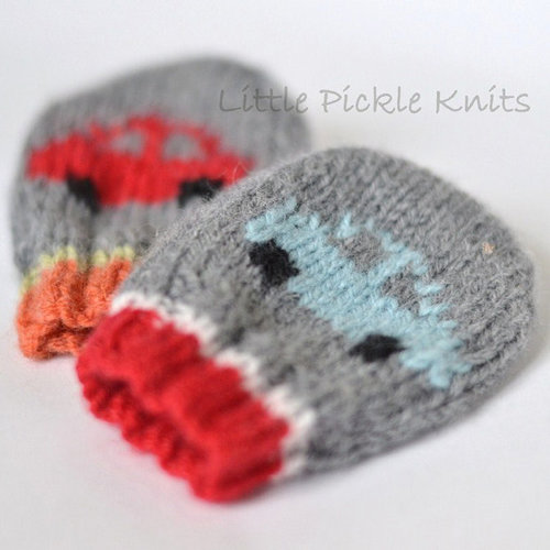 Little Pickle Knits Little Cars Baby Mitts PDF -  ()