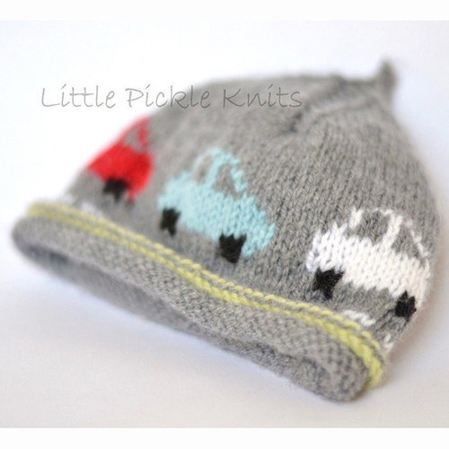 Little Pickle Knits Little Cars Beanie PDF -  ()