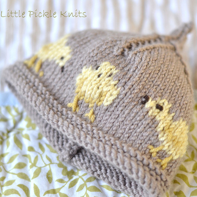 Little Pickle Knits Little Chick Beanie Pdf At Webs Yarn