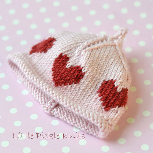 Little Pickle Knits Little Hearts Pixie Beanie PDF -  ()