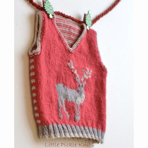 Little Pickle Knits Little Reindeer Tank PDF -  ()