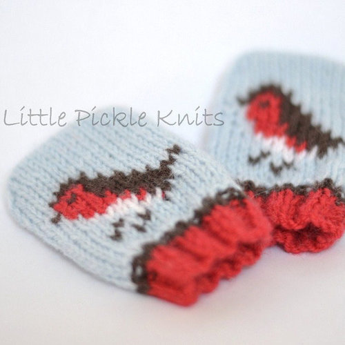 Little Pickle Knits Little Robins Baby Mitts PDF -  ()