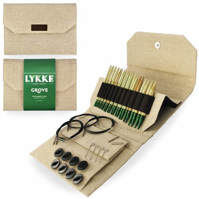 Bamboo Knitting Needle Set in Storage Case