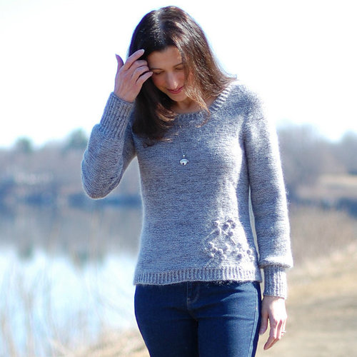 Lyrical Knits Branches in Bloom Pullover PDF -  ()
