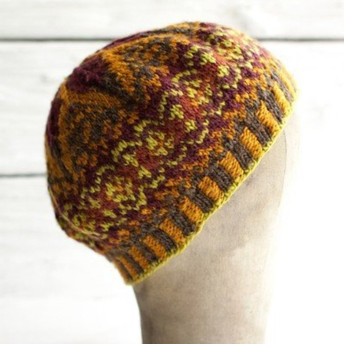 Manos Del Uruguay Fair Isle Tam (Free) at WEBS | Yarn.com