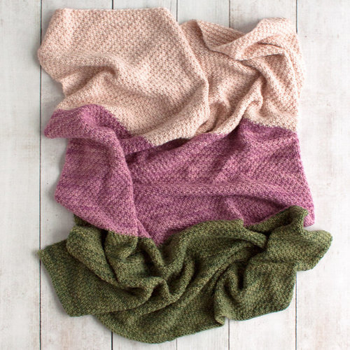 Manos del Uruguay Simple Worsted Moss Stitch Baby Blanket (Free) -  ()