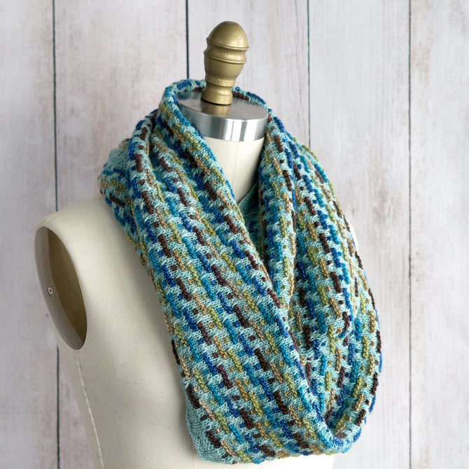 Manos Del Uruguay Trolley Tracks Infinity Scarf Free At Webs