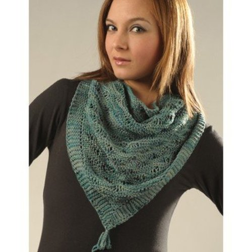 Misti Alpaca 2043 Triangle Drop Stitch Shawl (Free) -  ()