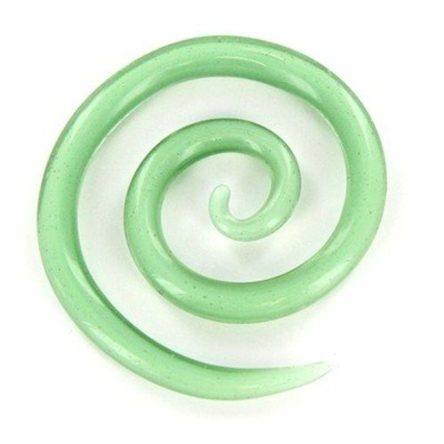 Moving Mud Glass Spiral Closures - Light Green (LTGREEN)