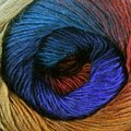 Nako Arya Ebruli - Copper, Red, Dark Blue, Dark Teal (412)