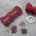 Nelkin Designs Beaded Waves Cuff Kit - Cerise (WAVESCERIS)