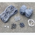 Nelkin Designs Beaded Waves Cuff Kit - Steel (WAVESSTEEL)