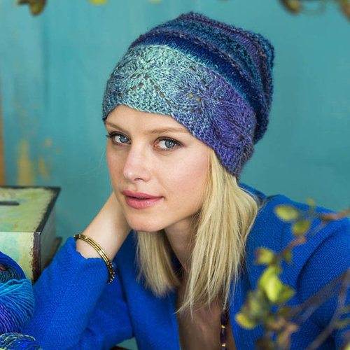 Noro 1424 Leaf Band Hat PDF -  ()