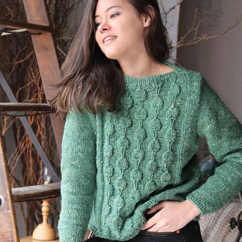 Noro 1530 Textured Panel Pullover PDF -  ()