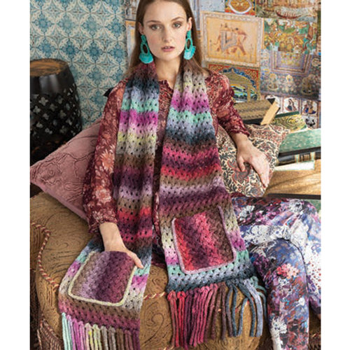 Noro 1622 Lace Cable Scarf Kit - Model (01)