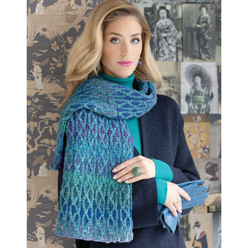 Noro 1712 Two-Color Cabled Scarf PDF -  ()