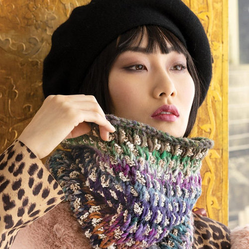 Noro 1718 Two-Color Cowl PDF -  ()