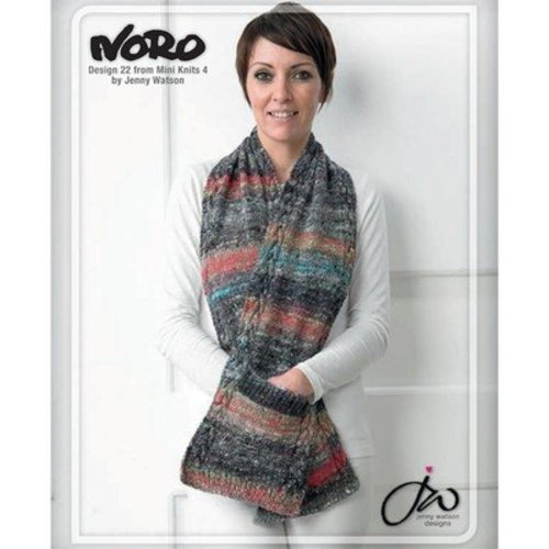 Noro 22 Scarf With Pockets PDF - Designer Mini Knits 4 -  ()