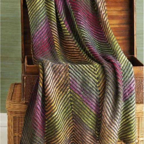 Free Knitting Patterns Noro Yarn : Noro Bias Stripe Afghan PDF at WEBS Yarn.com