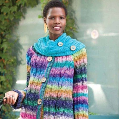 Noro Cabled Coat with Cowl PDF -  ()