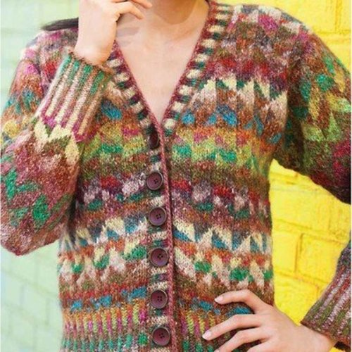 Noro Colorwork Cardigan PDF -  ()