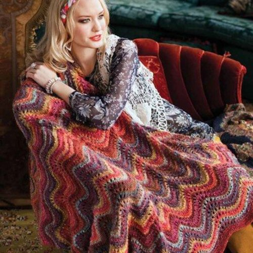 Noro Feather & Fan Lace Blanket PDF -  ()