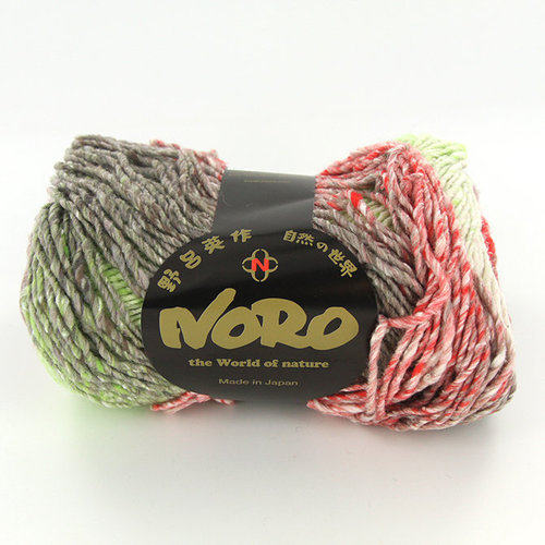 Noro Kagayaki - Mauve, Red, Mint (017)