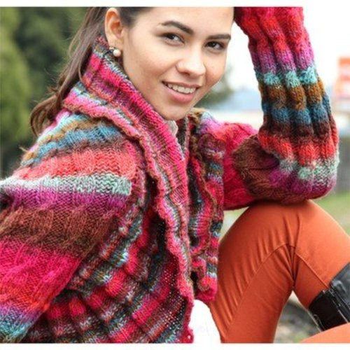 Noro Kureyon Cabled Shrug (Free) -  ()