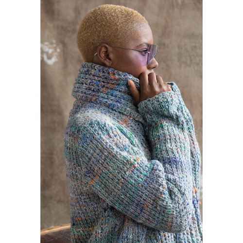 Noro Long Ribbed Cardigan PDF -  ()