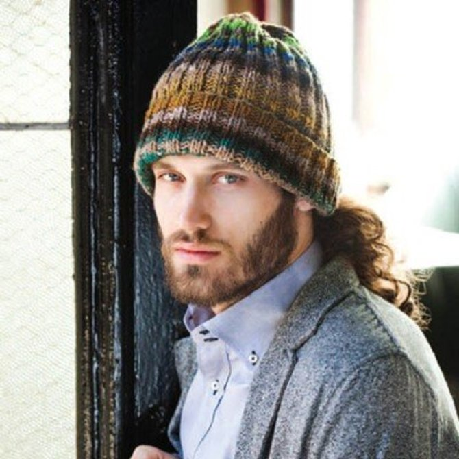 Noro Mans Ribbed Hat Pdf At Webs Yarn