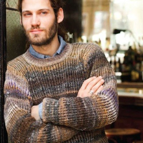Noro Mans Ribbed Sweater PDF -  ()