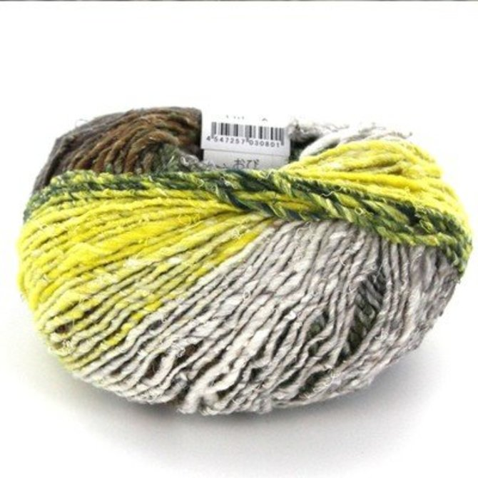 10/% Mohair Color 1 35/% Silk NORO OBIBulky: 55/% Wool
