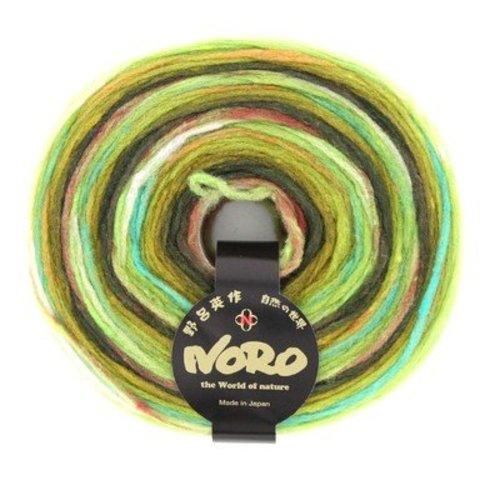 Noro Rainbow Roll - Lime Green Brown (1006)
