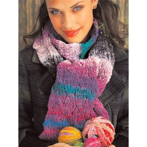 Noro Reversible Cabled Scarf (Free) -  ()