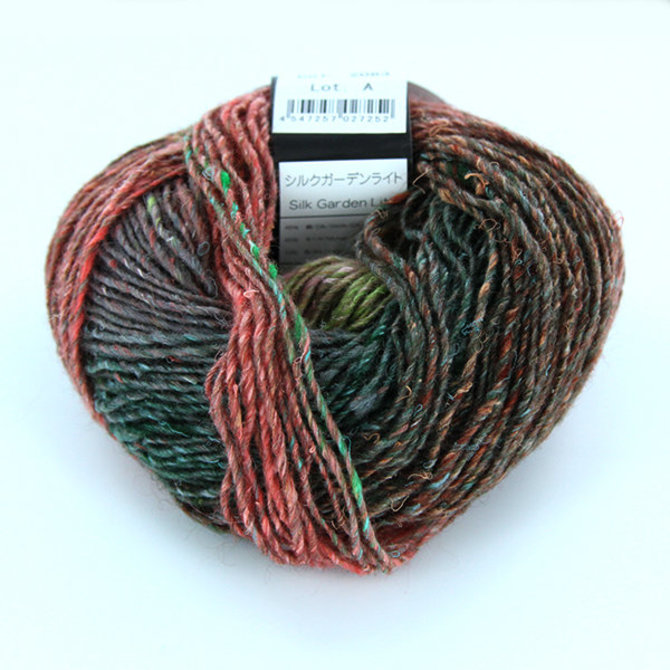 Noro Silk Garden Lite   Peach, Forest, Brown, Spring Green (2083)