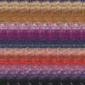 Noro Silk Garden Lite - Orange, Purples, Tan, Black (2086)