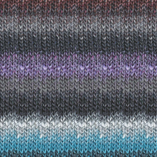Noro Silk Garden Lite - Black, Plum, Aqua, Brown (2087)