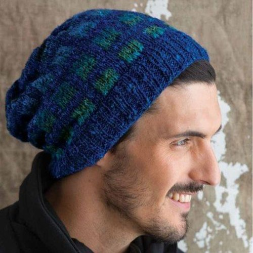 Noro Slouchy Checkered Hat PDF -  ()