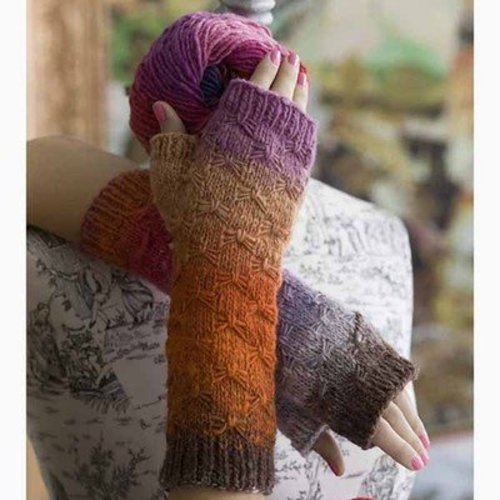Noro Smocked Fingerless Mitts PDF -  ()