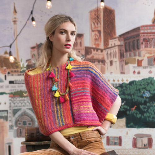 Noro Striped Poncho Kit - Small-Medium (01)