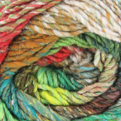 cotton silk wool yarn Lime-Teal-Bronze-Red-Forest-Browns NORO :Taiyo #108: