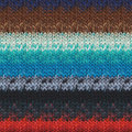 Noro Taiyo - Turquoise, Brown, Red, Cobalt (56)